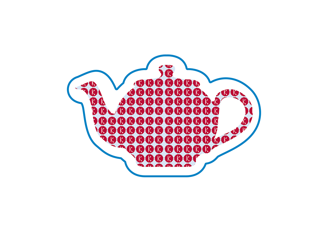 Tea pot pattern graphic