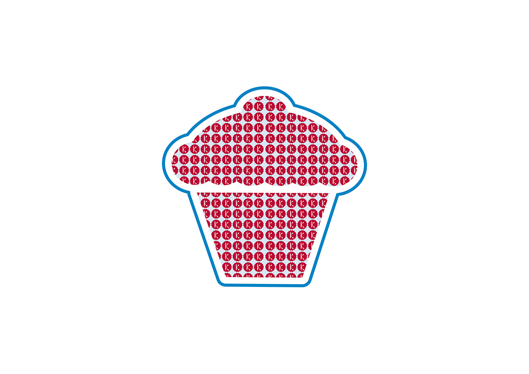 Cap cake pattern graphic
