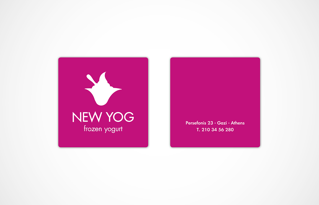 NEW YOG business card
